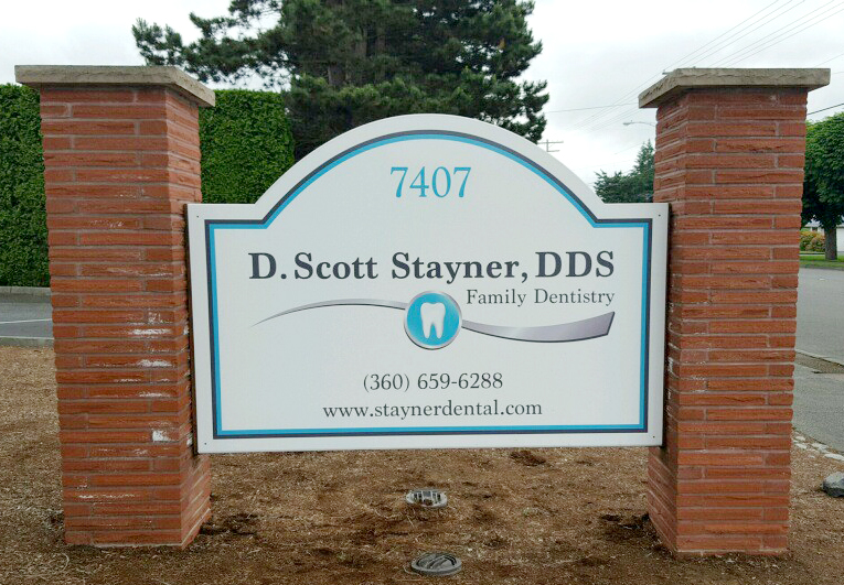 Stayner Dental Signage designed by Ontra Marketing Group in Woodinville, WA